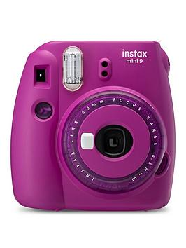 Fujifilm Instax    Mini 9 Clear Purple Instant Camera Inc 10 Shots - Instant Camera With 10 Pack Of Film