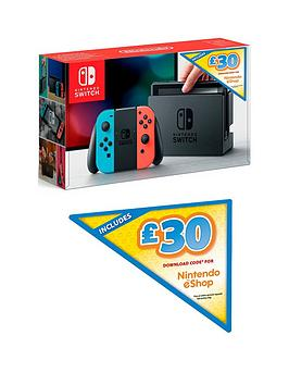 nintendo-switch-nintendo-switch-neon-console-with-pound30-nintendo-eshop-download-code