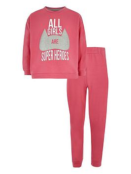 river-island-girls-superheroes-pyjama-set-pink