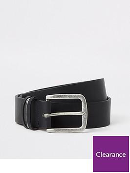 river-island-black-leather-metal-keeper-belt