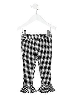 river-island-mini-girls-mono-dogtooth-check-print-leggings-black