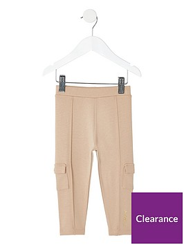 river-island-mini-mini-girls-utility-leggings-beige