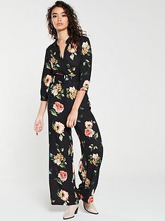 mango-floral-jumpsuit-black