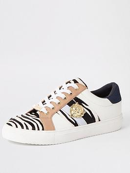 river-island-river-island-zebra-print-lace-up-trainers-white