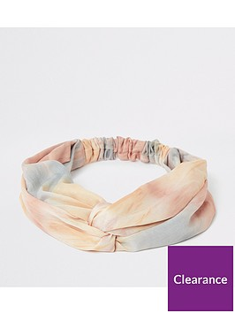 river-island-river-island-tie-dye-soft-headband-pink