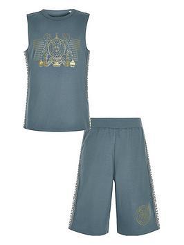river-island-boys-foil-print-vest-pyjama-set-navy