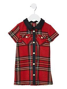 river-island-mini-mini-girls-tartan-check-shift-dress-red