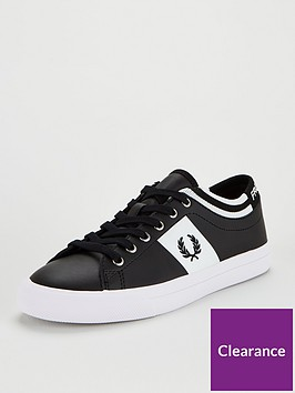 fred-perry-leather-trainer-black