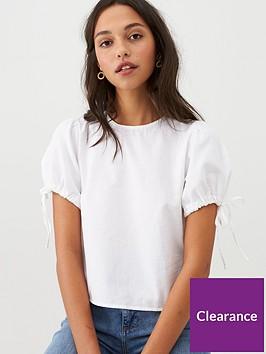 mango-tie-sleeve-basic-blouse