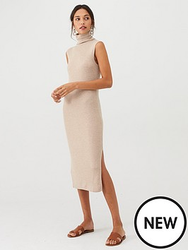 mango-high-neck-jersey-midi-dress