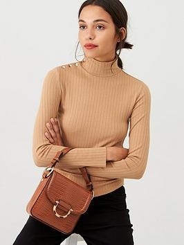 mango-buttonnbspneck-roll-neck-jumper-brown