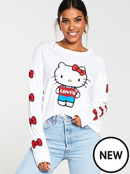 levis-x-hello-kitty-long-sleeve-top-white