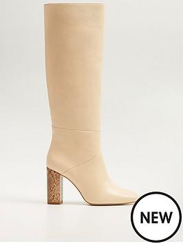 mango-knee-cork-heel-boot