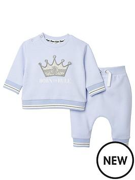 river-island-baby-baby-slogan-print-sweat-and-jogger-set-blue