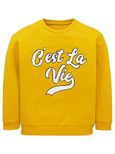 v-by-very-girls-cest-la-vie-sweat-top-mustard