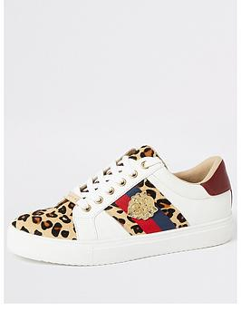 river-island-river-island-animal-print-lace-up-trainer-white