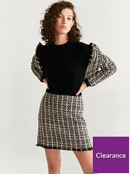 mango-tweed-mini-skirt