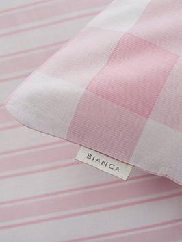 Bianca Cottonsoft Bianca Cottonsoft Bianca Pink Check Cotton Fitted Sheet Picture