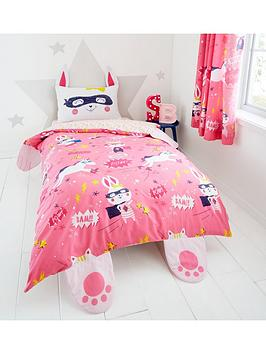 Catherine Lansfield Catherine Lansfield Super Bunny Single Duvet Cover And  ... Picture