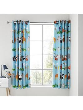 Catherine Lansfield Catherine Lansfield Animal Adventures Eyelet Curtains Picture