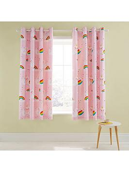 Catherine Lansfield Catherine Lansfield Rainbow Swan Lined Eyelet Curtains Picture