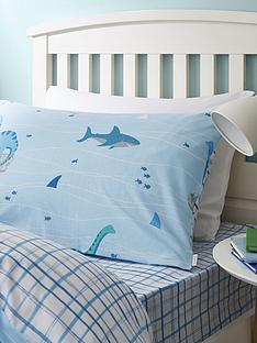 bianca-cottonsoft-bianca-shark-and-dinosaur-check-single-fitted-sheet