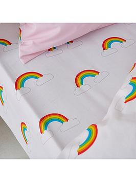 Catherine Lansfield Catherine Lansfield Rainbow Swan Fitted Sheet Picture