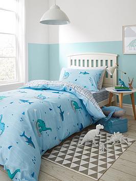bianca-cottonsoft-bianca-shark-and-dinosaur-100-cotton-single-duvet-cover-set