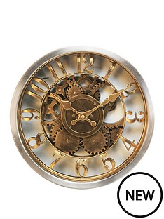 hometime-gold-case-wall-clock