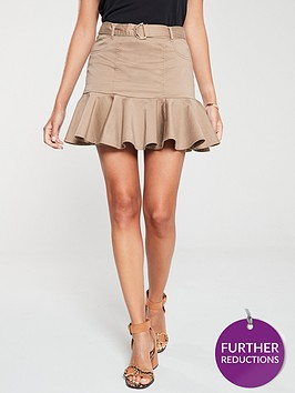 river-island-river-island-belted-frill-mini-skirt-beige