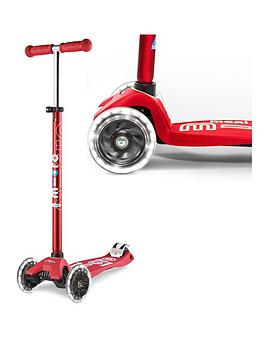 Micro Scooter Micro Scooter Maxi Deluxe Led Red Scooter Picture