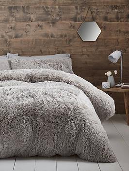 Catherine Lansfield Catherine Lansfield Cuddly Faux Fur Duvet Cover Set Picture
