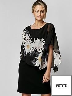 wallis-wallis-petite-spaced-floral-overlayer-dress