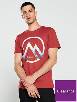 jack-jones-dany-print-crew-neck-t-shirt-red