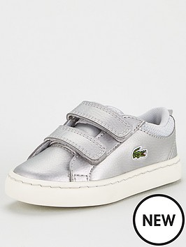 lacoste-infant-girls-straightset-319-trainers-silver