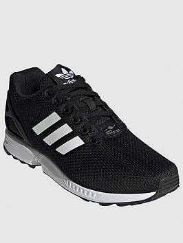 adidas Originals Adidas Originals Zx Flux Trainers - Black/White Picture