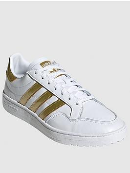 adidas Originals Adidas Originals Team Court - White/Gold Picture