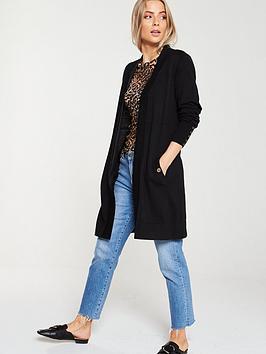 wallis-wool-mix-longline-cardigan-black