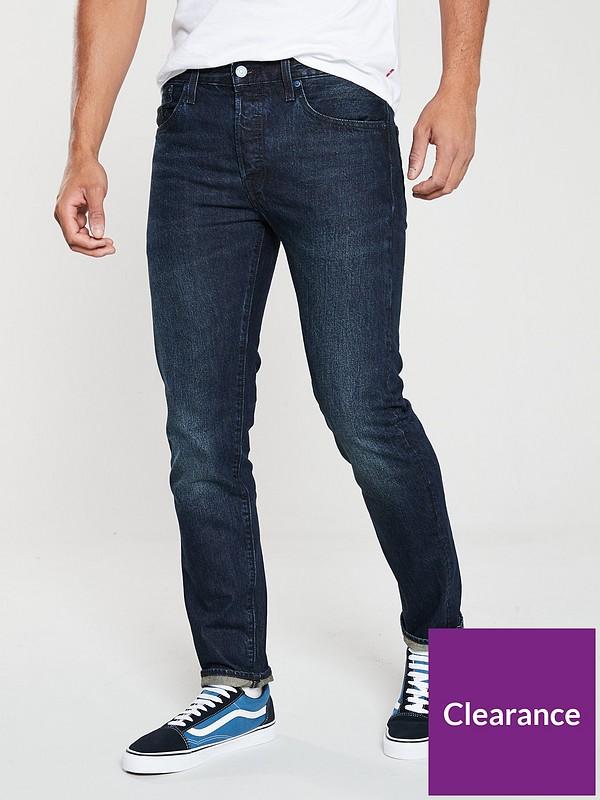 Dictado Propiedad Red de comunicacion  Levi's 501 Slim Taper Fit Jeans - Deep and Dark Blue   littlewoods.com