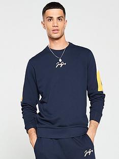 jack-jones-wisey-crew-neck-sweater-navy