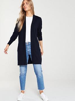 wallis-wool-mix-longline-cardigan-navy