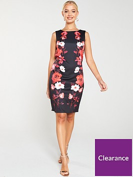 wallis-trailing-rose-scuba-shift-dress-black