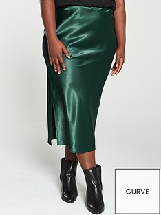 ax-paris-curve-midi-skirt-teal