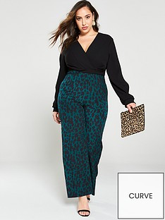 ax-paris-curve-2-in-1-leopard-print-jumpsuit-blackgreen