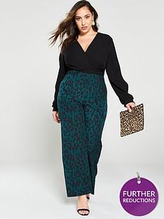 ax-paris-curve-2-in-1-leopard-print-jumpsuit-blackgreen