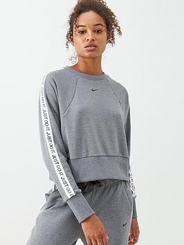 Nike Training Get Fit Jdi Sweat Top - Grey Heather