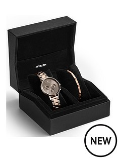 mvmt-mvmt-grey-sunray-and-rose-gold-detail-multi-dial-two-tone-stainless-steel-bracelet-ladies-watch-and-rose-gold-bangle-gift-set