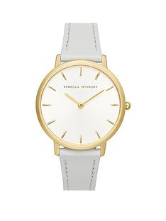 rebecca-minkoff-rebecca-minkoff-white-and-gold-detail-dial-light-blue-leather-strap-ladies-watch