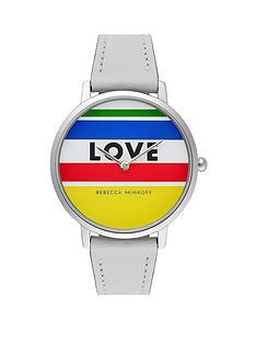 rebecca-minkoff-rebecca-minkoff-striped-love-dial-grey-leather-strap-ladies-watch
