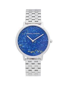 rebecca-minkoff-rebecca-minkoff-blue-mother-of-pearl-dial-stainless-steel-bracelet-ladies-watch